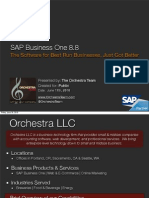 SAP Business One 8.8 Overview
