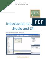 Introduction to Visual Studio and CSharp