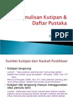 Penulisan Kutipan & Daftar Pustaka - p Gayuh.ppt