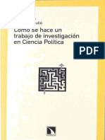 CÓMO SE HACE UN TRABAJO DE INVESTIGACIÓN EN CIENCIA POLÍTICA