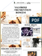 Valoroşi instrumentişti români