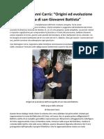 """Monsignor Gianni Carrù """"Origini Ed Evoluzione Dell'Iconografia Di San Giovanni Battista"""""""