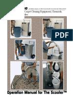 Manual Scooter 09-20-16 // Equipo de limpieza Movil