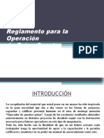 Reglamento Para La Operación de Gruas Puente