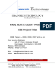 20424930 Knowledge Data Mining IEEE Project Titles With Abstract 2009 2010