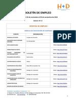 BOLETÍN DE EMPLEO Nº 17 - FUNDACIÓN H+D