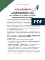 Nota de Prensa 003-2016- MOVILIZACIÓN NACIONAL 29 DE NOVIEMBRE