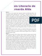 Analisis Literario de Bernalda Alda