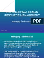 IHRM_Managing Performance