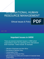 IHRM_Ethics & Policies