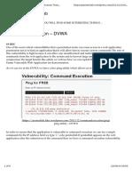 Command Execution – DVWA