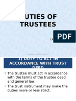 Duties of Trustee