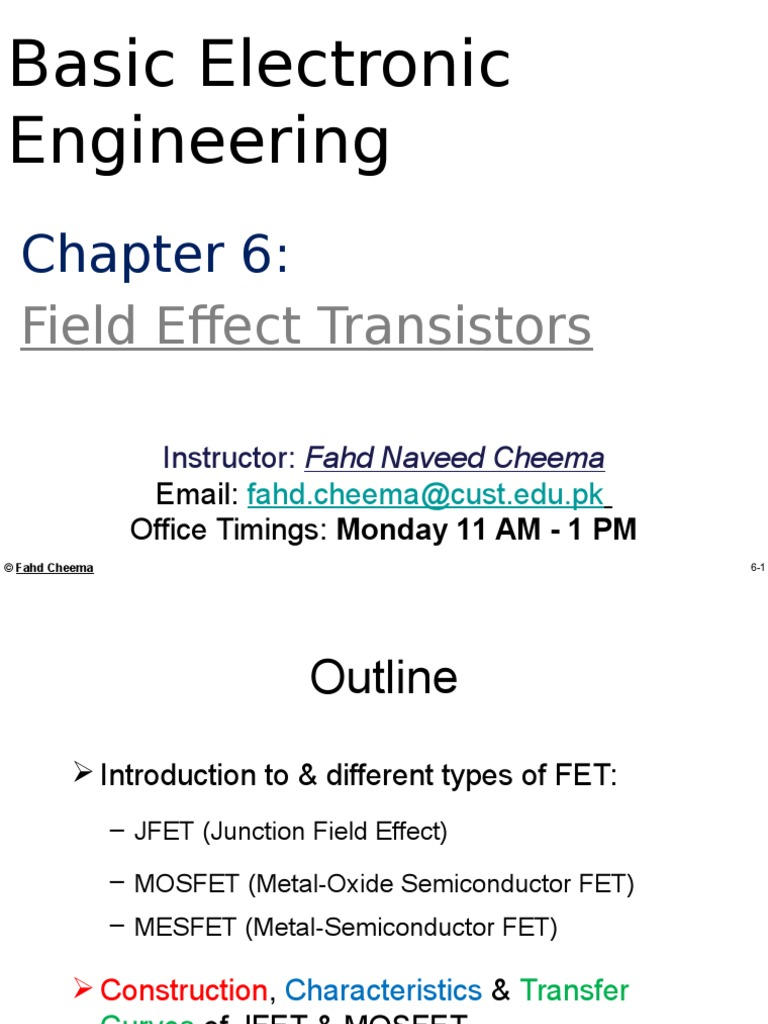Bee Chapter 6 Field Effect Transistor Mosfet Tutorial Circuits