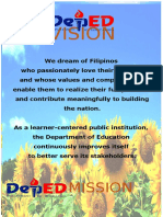 Deped Vision, Mission, Goals