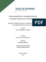 Gestion Administrativa y Desempeno Docen