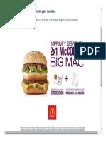 Ejemplo de 2x1 Big Mac