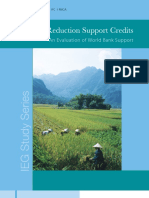 Poverty Reduction Support Credits