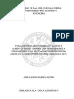 Evaluación de Disponibilidad y Acceso a Alimentos Final
