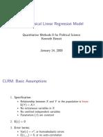 Classical Liner Regression Model