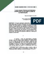 A Grafia Das Vogais Tônicas Anteriores e Posteriores Não-Altas Numa Classe de Alfabetização