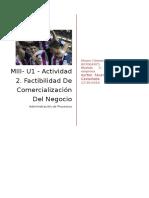 MIII- U1 - Actividad 2. Factibilidad de Comercialización Del Negocio