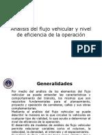 Análisis Del Flujo Vehicular y Nivel de Eficiencia