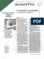 Arquitectura Viva - Territorio Construido - La Ciudad Desde La Arquitectura