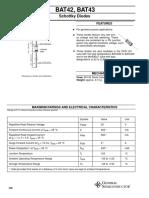 Diode bat42 & 43 (Data Sheet)