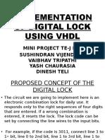 Implementation of Digital Lock Using Vhdl