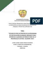 Tesis Consolidada Banano Organico Enero 2016 Valeria Cordova