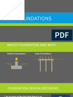 Which Foundations and Why
