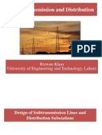 Design of Subtransmission Lines and Distribution Substations