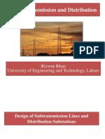 Design of Subtransmission Lines and Distribution Substations