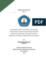 Studi Mikrofasies Dan Diagenesis Batuan Karbonat Di Daerah Nawungan Dan Sekitarnya, Kec. Panggang, Kab. Gunungkidul, Diy