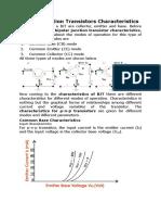 Bipolar Junction Transistors Characteristics