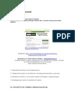 Zeledón, P. Cambio Organizacional