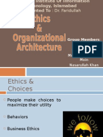Managerial Economics- Etics and organizational Archiecture