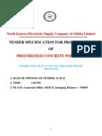 Tender Document for PSC Pole
