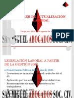 TallerActualizaciónLaboral. Presentación