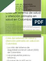 Criticas Al Sistema de Salud de Colombia