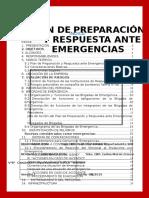 Plan de Preparación y Respuesta Ante Emergencias2014