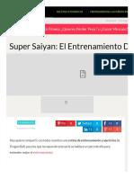 Super Saiyan_ El Entrenamiento de Dragon Ball _ Ejercitarse