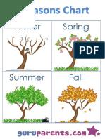 Seasons Chart Trees Northern Hemisphere