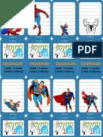 Cartas Superheroes