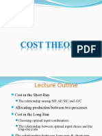Cost theory (Microeconomics)