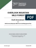 Overlook Mountain Wild First Draft Amendment