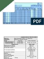 Cálculo de Prestaciones Sociales e Intereses 2009