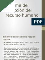 Informe de Selección Del Recurso Humano (1)