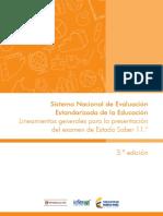 Lineamientos Generales Para La Presentacion Del Examen de Estado Saber 11 2016 v3
