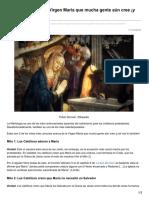 5 Mitos Acerca de La Virgen María Que Mucha Gente Aún Cree
